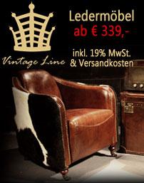 Vintage Leder Möbel Angebote