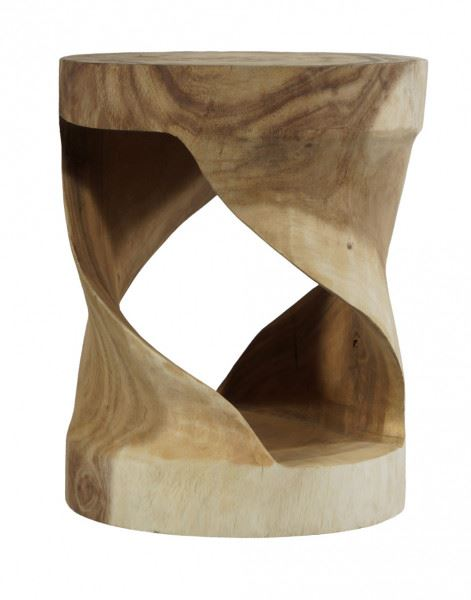 "Teakholz Hocker ""Vortex"""