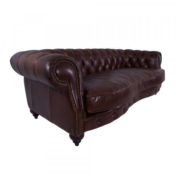 Clubsofa Castlefield 3-Sitzer Chesterfield-Stil