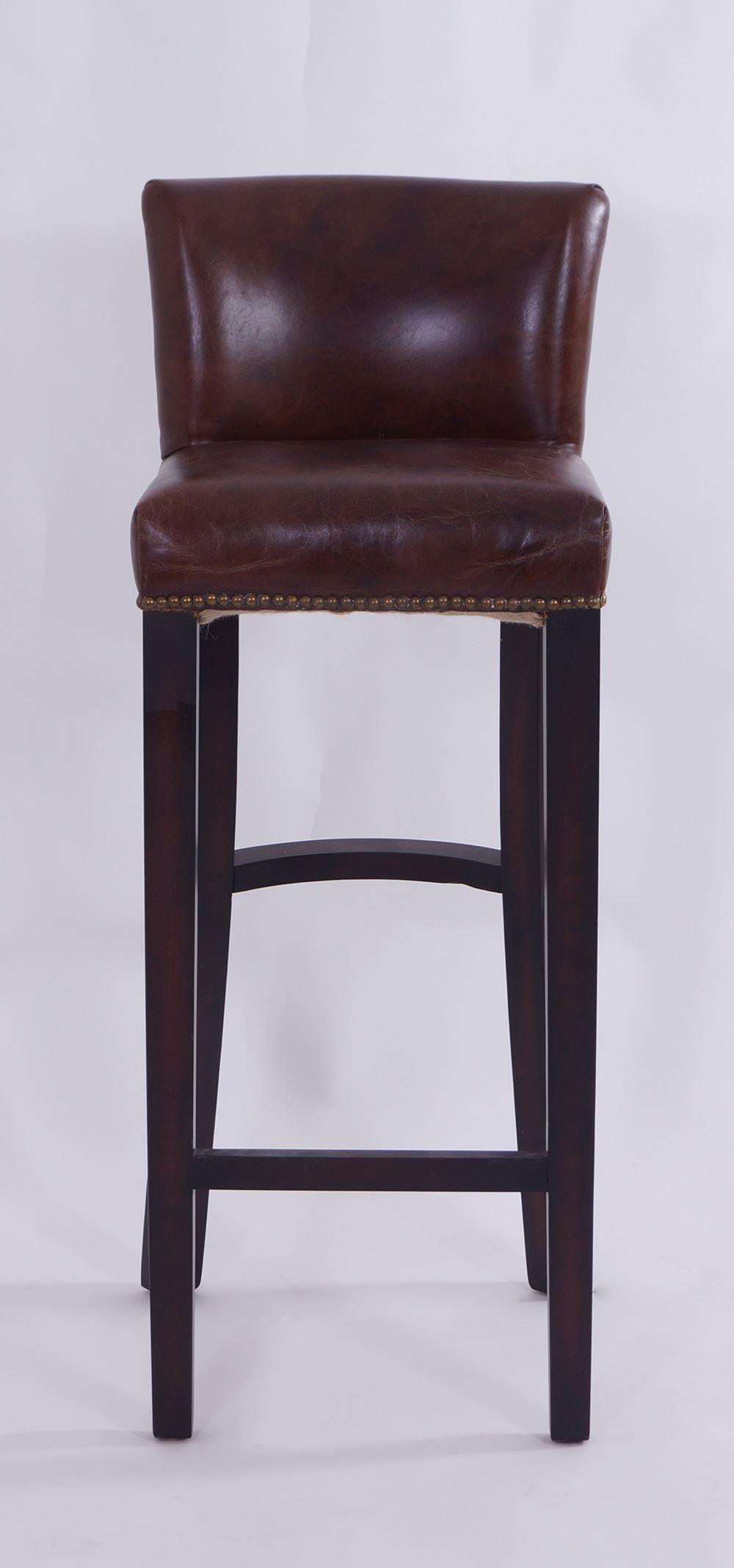 Barhocker Smith Aus Vintage Leder Und Pinienvollholz By Vintage Line Vintage Ledermobel Retro Mobel Vintage Line