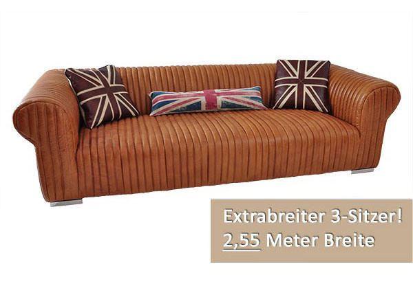 Vintage Leder Sofa Columbia 3-Sitzer