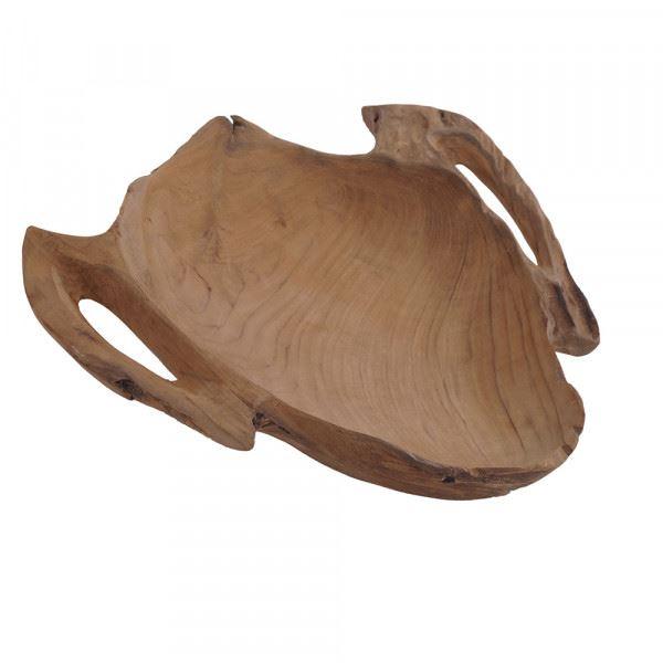 Deko-Schale aus Teakholz in Form einer Maske