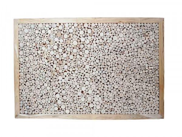 """Teakholz-Deko Bild """"Flat Slices"""" 121x80 cm"""