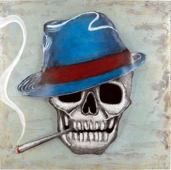 Handgefertigtes Metallbild Dead Smoker ca. 80x80 cm