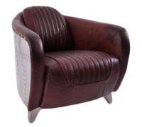 Clubsessel Aberford Vintage Leder Montaigne-Brown Aluminium