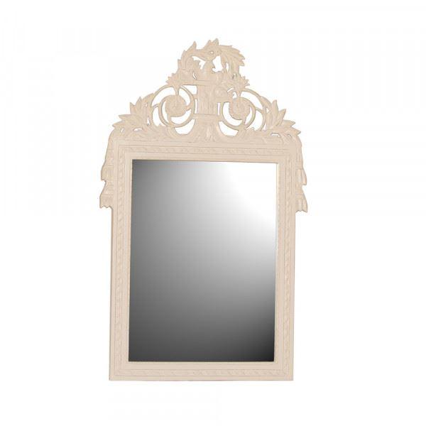Wandspiegel / Spiegel Mask in weiß