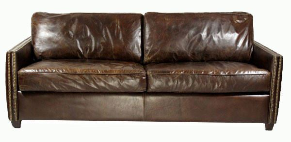 Loungesofa Rust 3-Sitzer aus Vintage-Leder