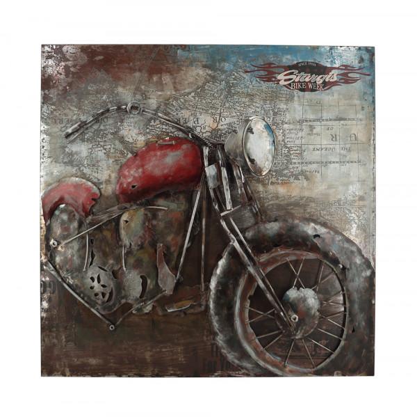 Handgefertigtes Metallbild Bike Week Red ca. 100x100 cm