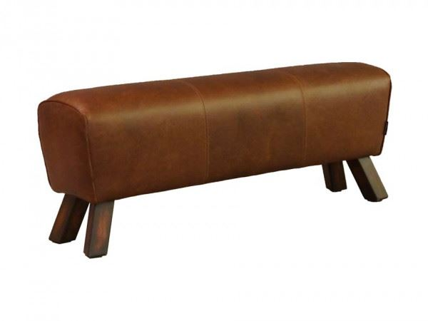 Fußhocker Buck Big Leder Vintage-Cigar
