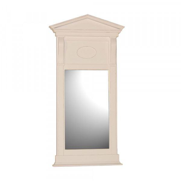Wandspiegel / Spiegel Giebel in weiß