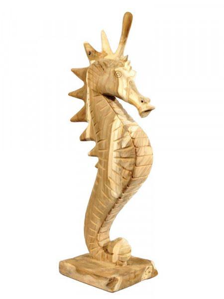 "Teakholz-Skulptur ""Seepferdchen"", groß"
