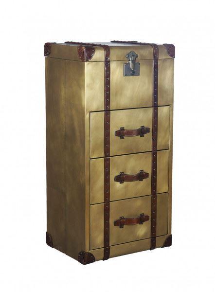 Vintage Truhe Goldcase