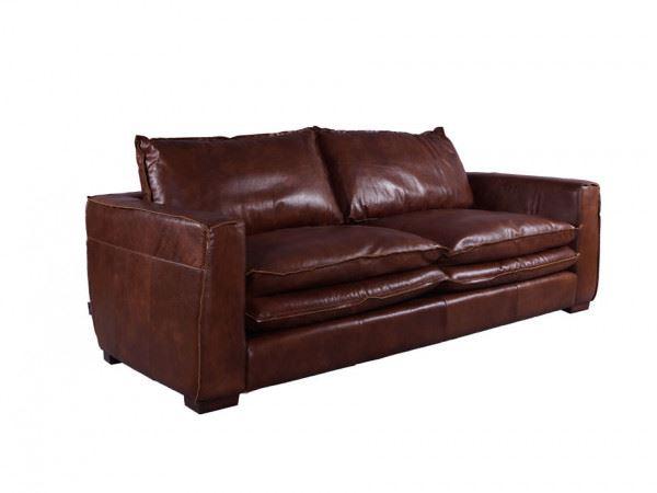 Clubsofa Burlington 2,5-Sitzer Montaigne Brown Vintage Leder