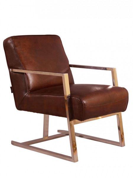 Freischwinger Sessel Staines Vintage Leder