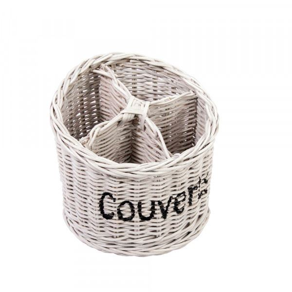 Besteckkorb Couverts weiß Ø ca. 20 cm
