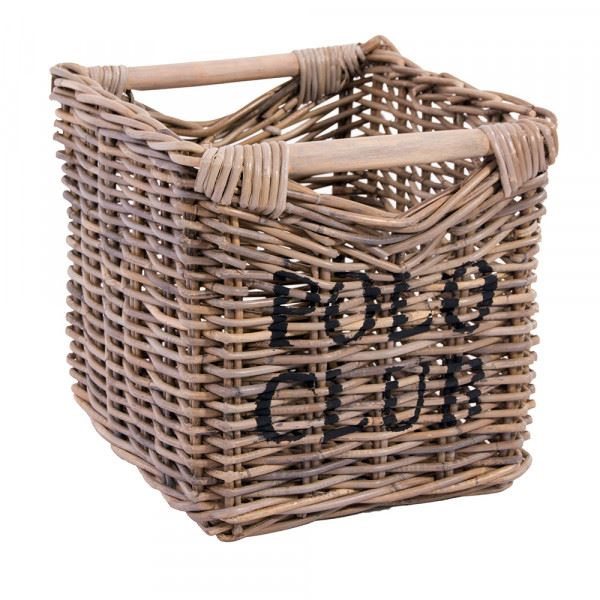 Aufbewahrungskorb Polo Club klein ca. 38 x 44 cm Korb Rattankorb Naturrattan