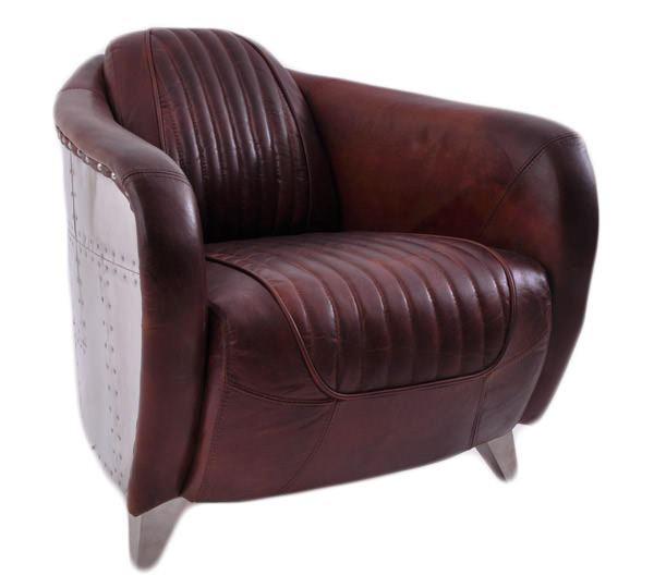Clubsessel Aberford Vintage Leder Chrom