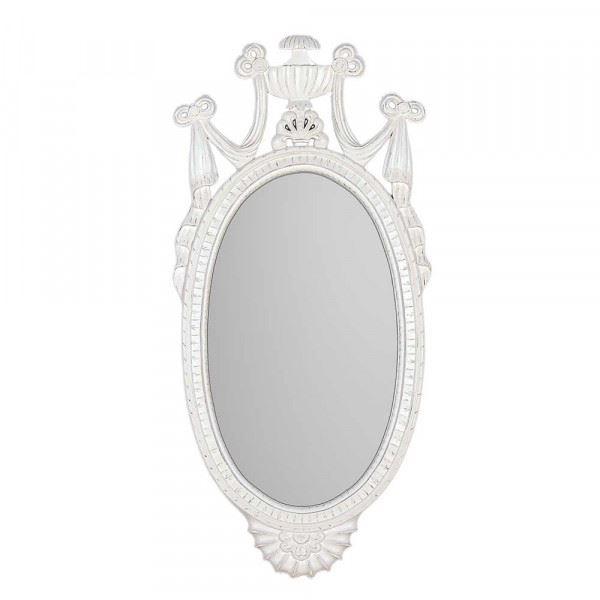 Wandspiegel / Spiegel Pokal in weiß