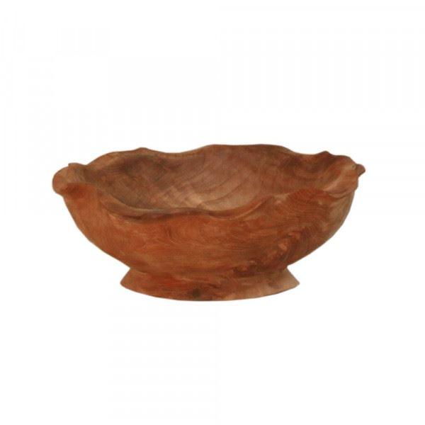 Deko-Schale aus Teakholz mit Fuß