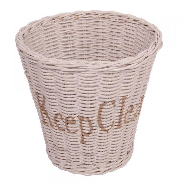 Papierkorb Keep Clean Weiß