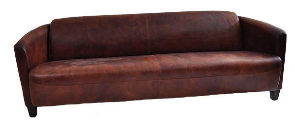 Clubsofa Rocket 4-Sitzer Vintage Leder Frontansicht