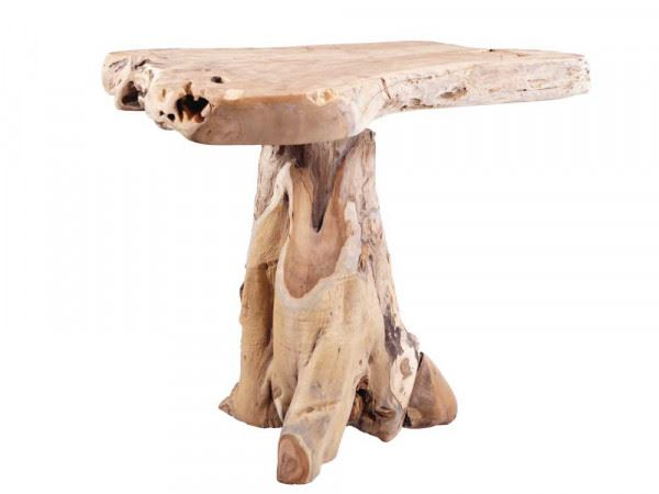 Tisch / Bartisch aus Teakwurzel-Holz