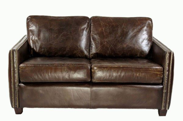 Loungesofa Rust 2-Sitzer aus Vintage-Leder