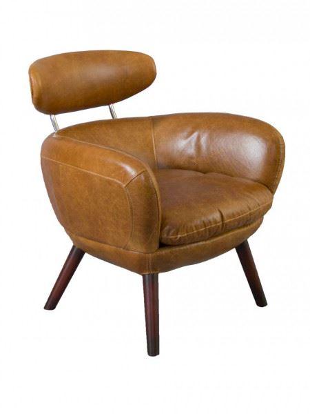 Swinford Designsessel Columbia Brown Vintage Leder Möbel