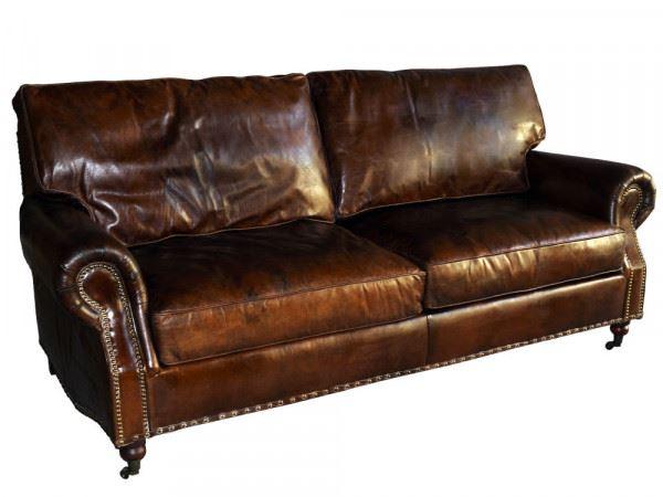 Loungesofa Wales 3-Sitzer aus Vintage-Leder