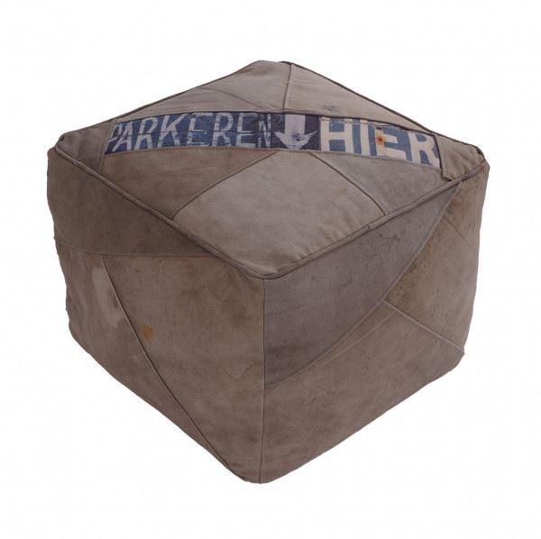 Hocker ca. 45 cm x 45 cm Leinen