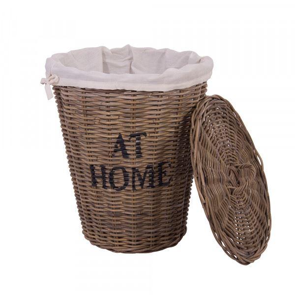 Wäschekorb At Home Wäschesack Klamottenkorb Rattankorb Korb Naturrattan handgefertigt