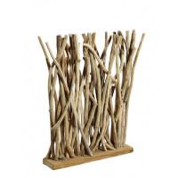 Raumteiler Wohndekoration Skulptur aus Teak-Treibholz B/T/H 50/14/90