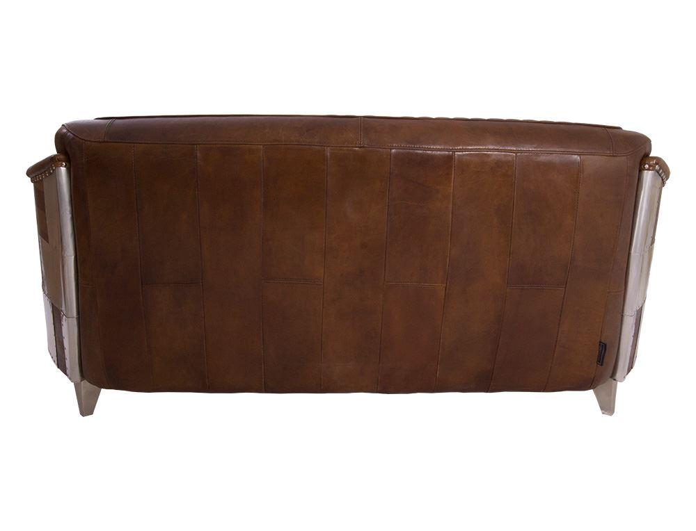 Clubsofa Aberford Usa 3 Sitzer Vintage Leder Vintage Cigar Aluminium 3 Sitzer Sofas Vintage Ledermobel Vintage Ledermobel Retro Mobel Vintage Line