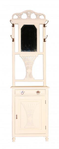 Garderobenschrank Rochefort mit Tür Holz Vintage Look weiß