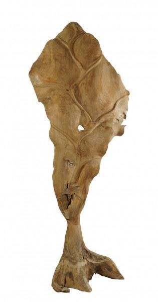 "Teakholz Skulptur ""Blatt"" groß"