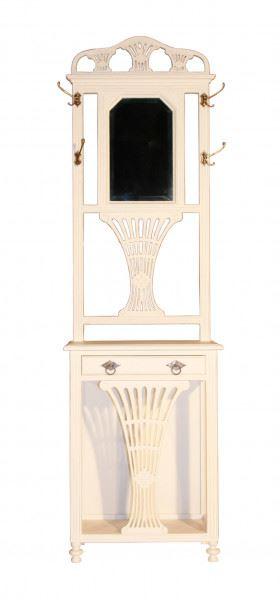 Garderobenschrank Rochefort Holz Vintage Look weiß