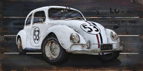 Handgefertigtes Metallbild Herby ca. 100x50 cm