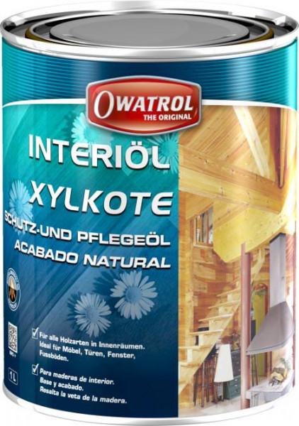 Owatrol Interiöl 1 Liter - geruchsarmes Öl für Harthölzer (TEAK)