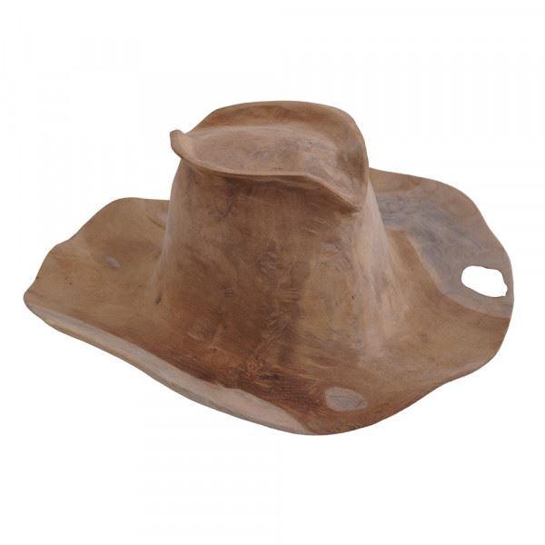 Wohndekoration Hut aus Teakholz