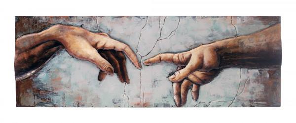 Handgefertigtes Metallbild Michelangelo ca. 40x120 cm