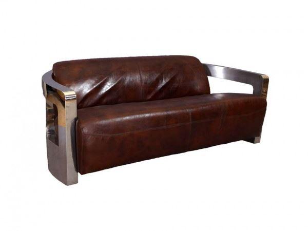 Design-Clubsofa Mars 3-Sitzer Vintage Leder