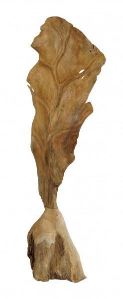 "Teakholz-Skulptur ""Blatt"", klein"