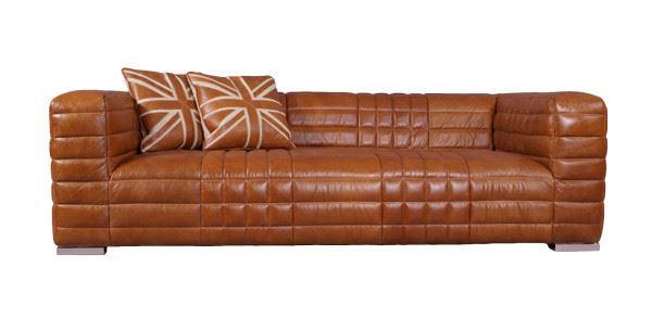 Designsofa Birsay 2,5-Sitzer Vorderansicht mit Kissen