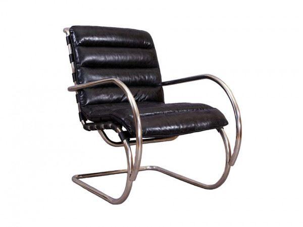 Freischwinger Sessel Brisbane in schwarz