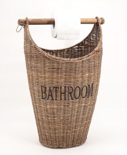 Toilettenpapier Eimer Aufbewahrungskorb Toilettenpapierspender Korb Naturrattan
