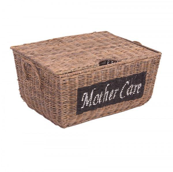Aufbewahrungskorb Mother Care mit Deckel ca. 37 x 27cm