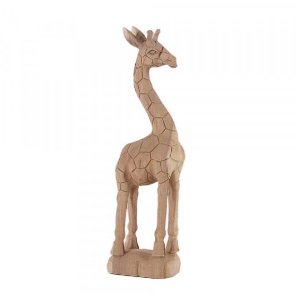Wohndekoration Tierskulptur Giraffe aus Teakholz ca. 70 cm