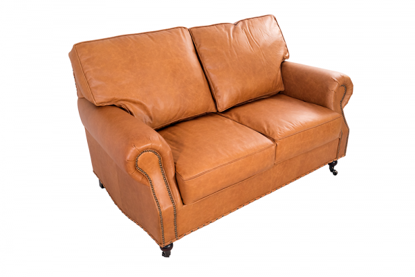 Clubsofa Wales 2-Sitzer Leder Columbia Brown