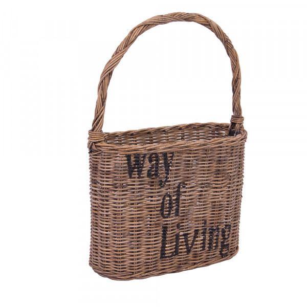 Einkaufskörbchen Way of Living Rattan Rattankorb EInkaufskorb Handgefertigt