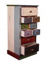 Kommode Corby massiv Holz Vintage Look mehrfarbig lackiert